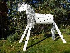 120cm Holzpferd Onkel mit Maul und Gesicht Voltigierpferd Pferd Pony NEU