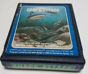 1982 Shark Attack (Atari 2600)  Vintage Video Game Cartridge Retro Collectible
