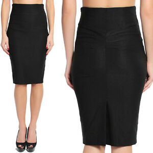 Image Is Loading Themogan S 3x Pleated Back High Waisted Knee