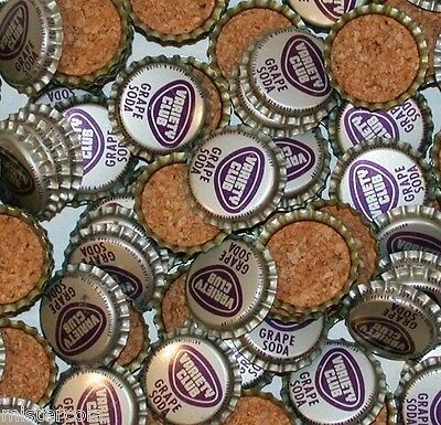Soda pop bottle caps Lot of 25 VARIETY CLUB GRAPE SODA cork lined new old stock