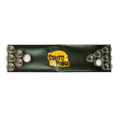 2 Bällen und Spielfeld Partyspiel WG Trinkspiel Shots Pong mit 12 Gläsern