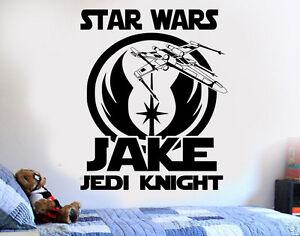Star-Wars-Personalized-Jedi-DIY-Wall-Art-Sticker-Decal-Mural-bedroom-playroom