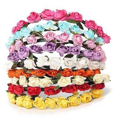 Haarschmuck Zuversichtlich Blumen Haarreif Rosen Haarband Kranz Hochzeit Dirndl Trachten Haar Schmuck Trend