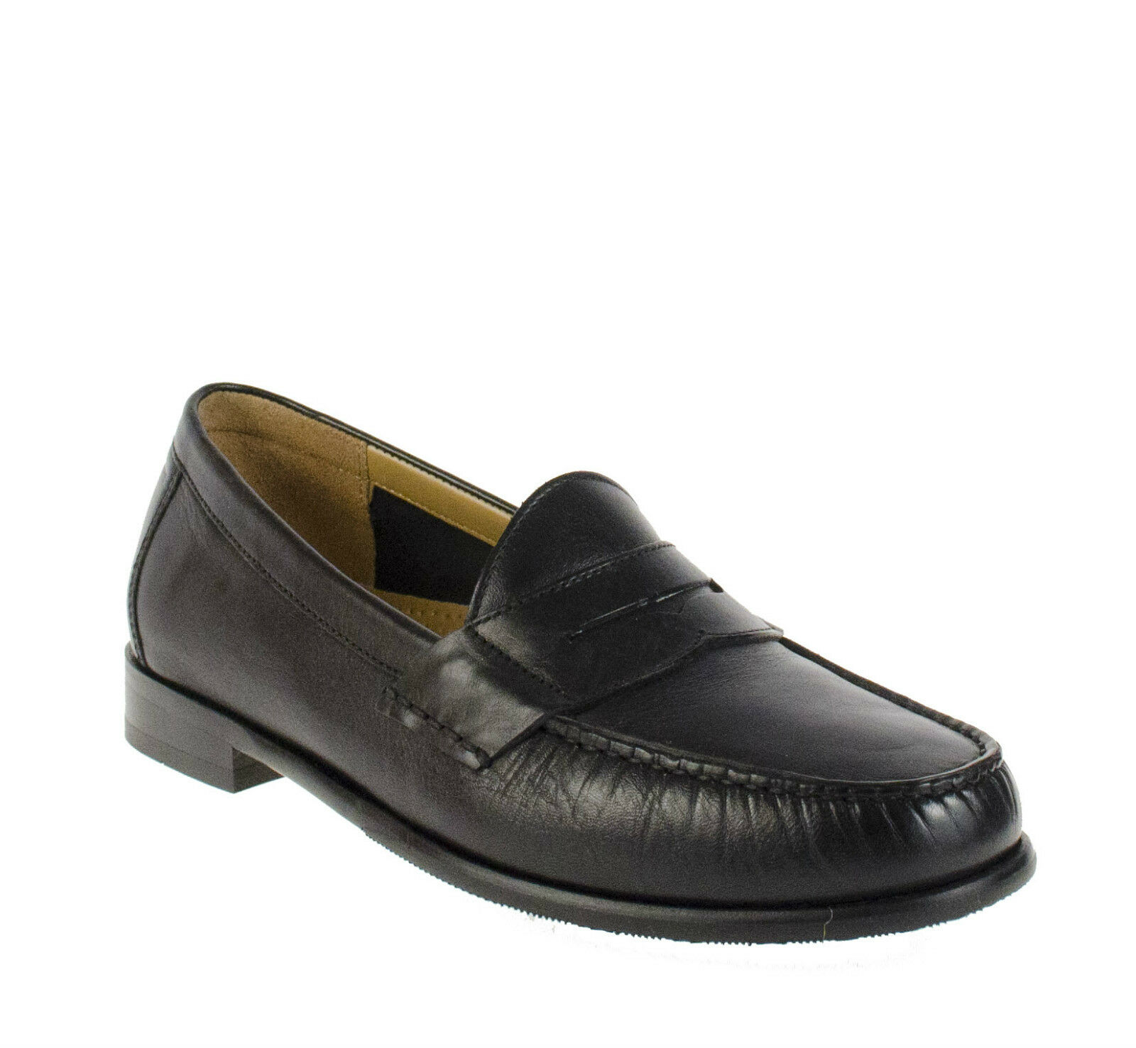 COLE HAAN ASCOT PENNY II Noir Homme Mocassin Enfiler Chaussures Multi Tailles