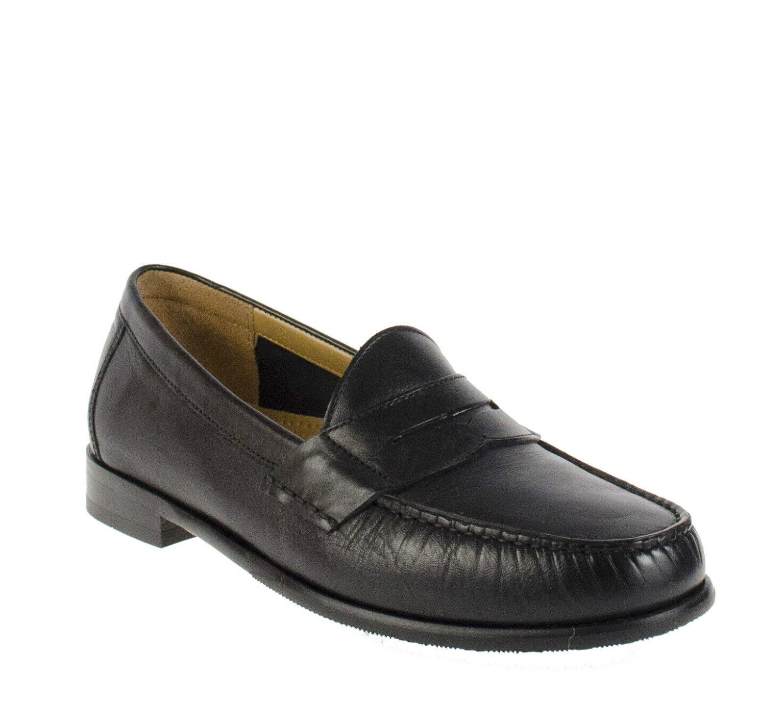 Cole Haan Ascot Penny Ii Negro Para Hombre mocasín Slip On Zapatos Varios Tamaños