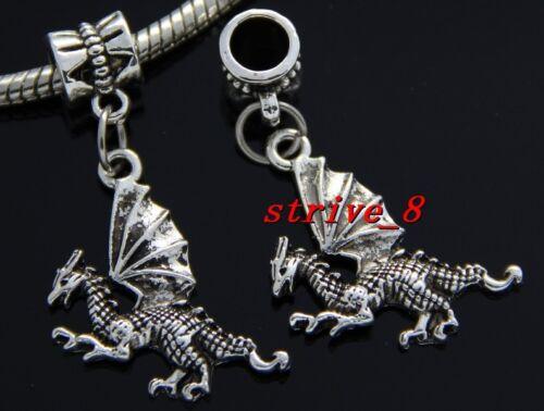 Lot 30//100pcs Tibetan Silver Wing Dragon Vrac Lots Dangle Charms À faire soi-même Bracelet