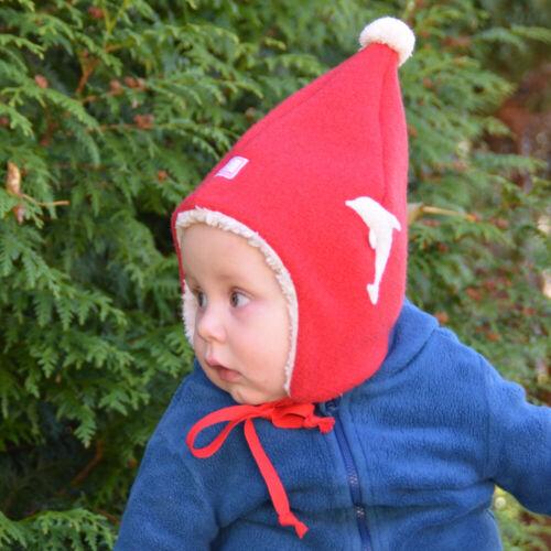 PICKAPOOH Baby//Kinder Mütze Jim Bio-Wollwalk mit Delfin