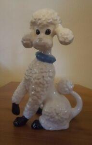 """Vintage Ceramic Poodle 10"""" Tall Figurine"""