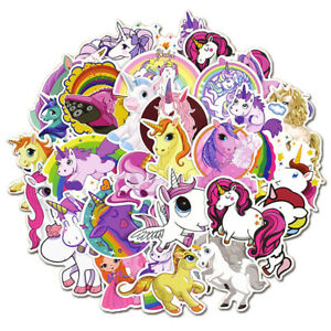50Pcs-Unicorn-Waterproof-Cartoon-Stickers-Skateboard-Laptop-Luggage-Decals-Decor