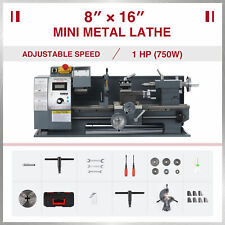 Preenex Benchtop Mini Lathe Machine 750w Motor 3 Jaw Chuck 8x16 2250rpm