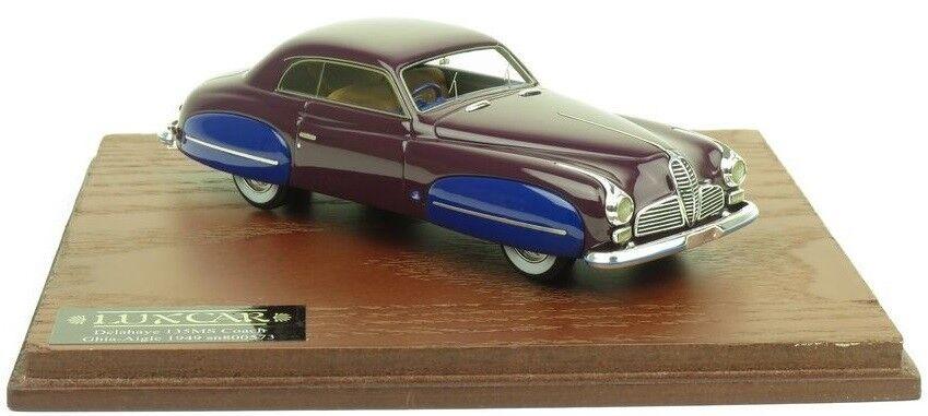 promociones de descuento LUX015 - Voiture berline coupé coupé coupé DELAHAYE 135MS GHIA AIGLE Color púrpura à ailes  colores increíbles