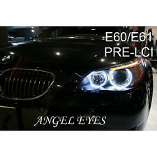 BMW 5 SERIES E60 E61 PRE-LCI ANGEL EYE HALO RING LIGHT ICE WHITE LED BULBS X4