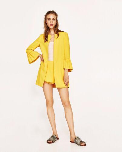6 Ruffled 8 Zara Frakke Uk Og Smart Med Lommer Ny Størrelse Sleeves YqvdxPwx
