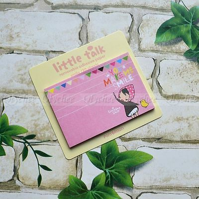 1PC Random Cute Stationery stationary Little Talk Removable Adhensive Paper Memo