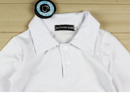 3PCS Baby Boys Gentleman Coat Denim Trousers Set Kids Clothes Outfits Shirt
