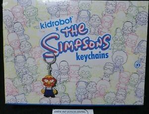 "Kidrobot Keychains The Simpsons Groundskeeper Willie 1.5/"" 3D Vinyl Keychain Box"