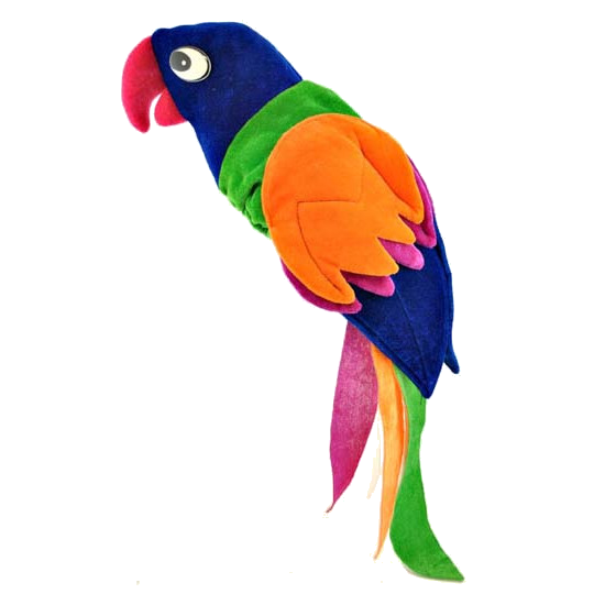 Parrot Hat Jimmy Buffet Tropical Bird Costume Accessory Plush Margaritaville