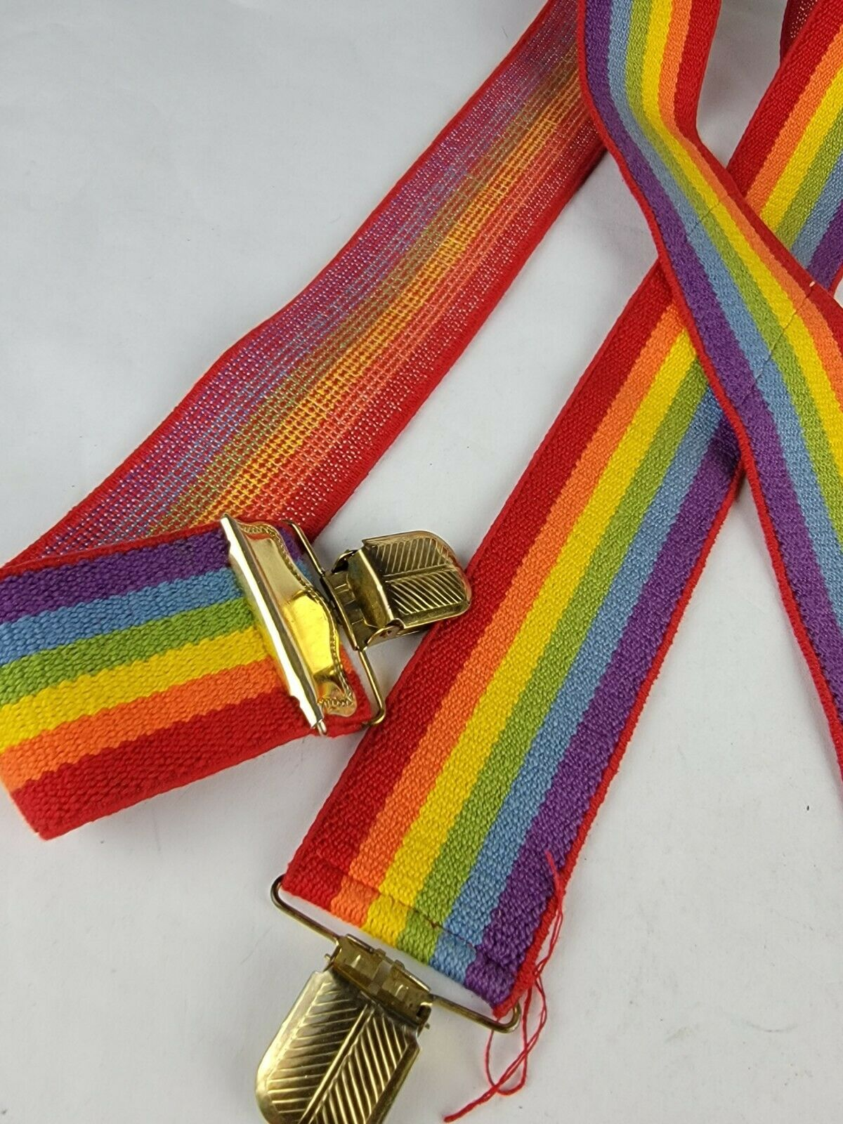 "Vintage 2"" x 35"" Rainbow Suspenders Adjustable Un… - image 5"
