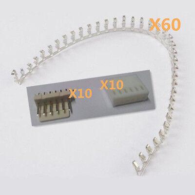 New Connector Kits 60* KF2510-6P 2.54mm Pin Terminal +10*Header +10*Housing