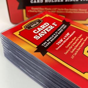 50 Ct Card Saver 1 I CS1 Cardboard Gold PSA BGS Semi-Rigid Grading Card Holders