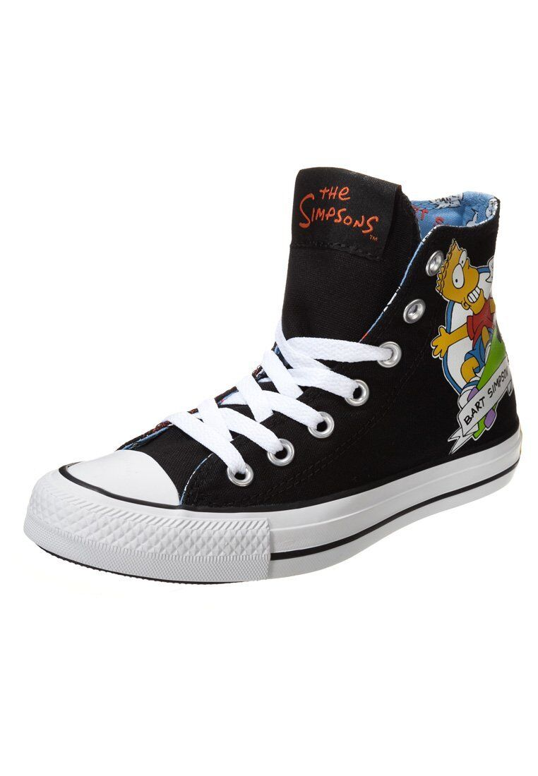 Converse Chuck Hi All star the simpsons NOIR noir LIMITED EDITION-NEUF