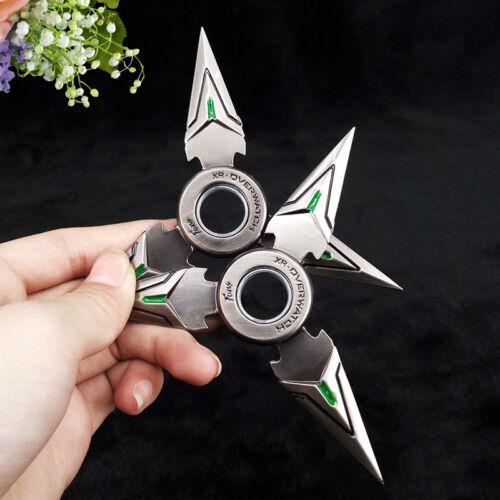 OW Overwatch Hand Tri Spinner EDC Metal Bearing Fidget Rotat Halloween Toy