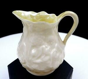 BELLEEK-IRELAND-LOTUS-COBB-LUSTER-3RD-BLACK-MARK-3-1-4-034-CREAMER-1926-1946