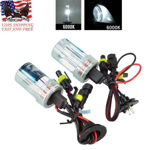 2X 55W H8//H9//H11 HID Xenon Conversion Replacement Bulb Lamp Headlight All Colors