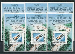 6-x-Bund-Block-Nr-23-sauber-postfrisch-BRD-1496-Bob-Weltmeisterschaft-MNH