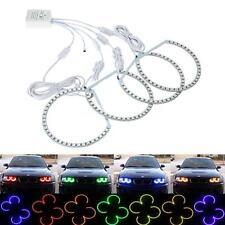4x RGB Remote Multi-Color LED Angel Eyes Kit for BMW E38 E39 E46 M3 3 5 7 Series