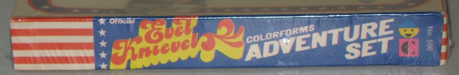 Nr. jahrgang original 1974 Farbeforms evel knievel abenteuer wurde komplett abgeriegelt