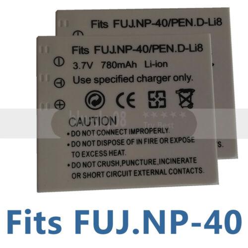 2X Batería NP-40 para Fuji FinePix Z5fd F480 F470 F460 F810 F650 J50 V10 Z3 Z5