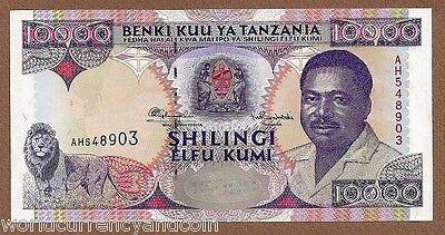 ELEPHANT UNC ANIMAL MONEY BANKNOTE ND TANZANIA 10000 10,000 SHILLINGS P39 2003