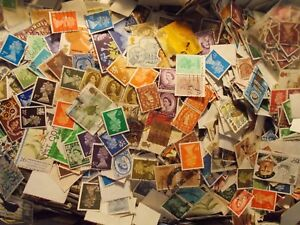 200g-GB-Genuine-Unsorted-Used-Charity-Kiloware-Stamps-off-paper-UK-Seller