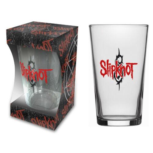 PINT 570 ml BEER GLASS # 1 LOGO SLIPKNOT BIERGLAS