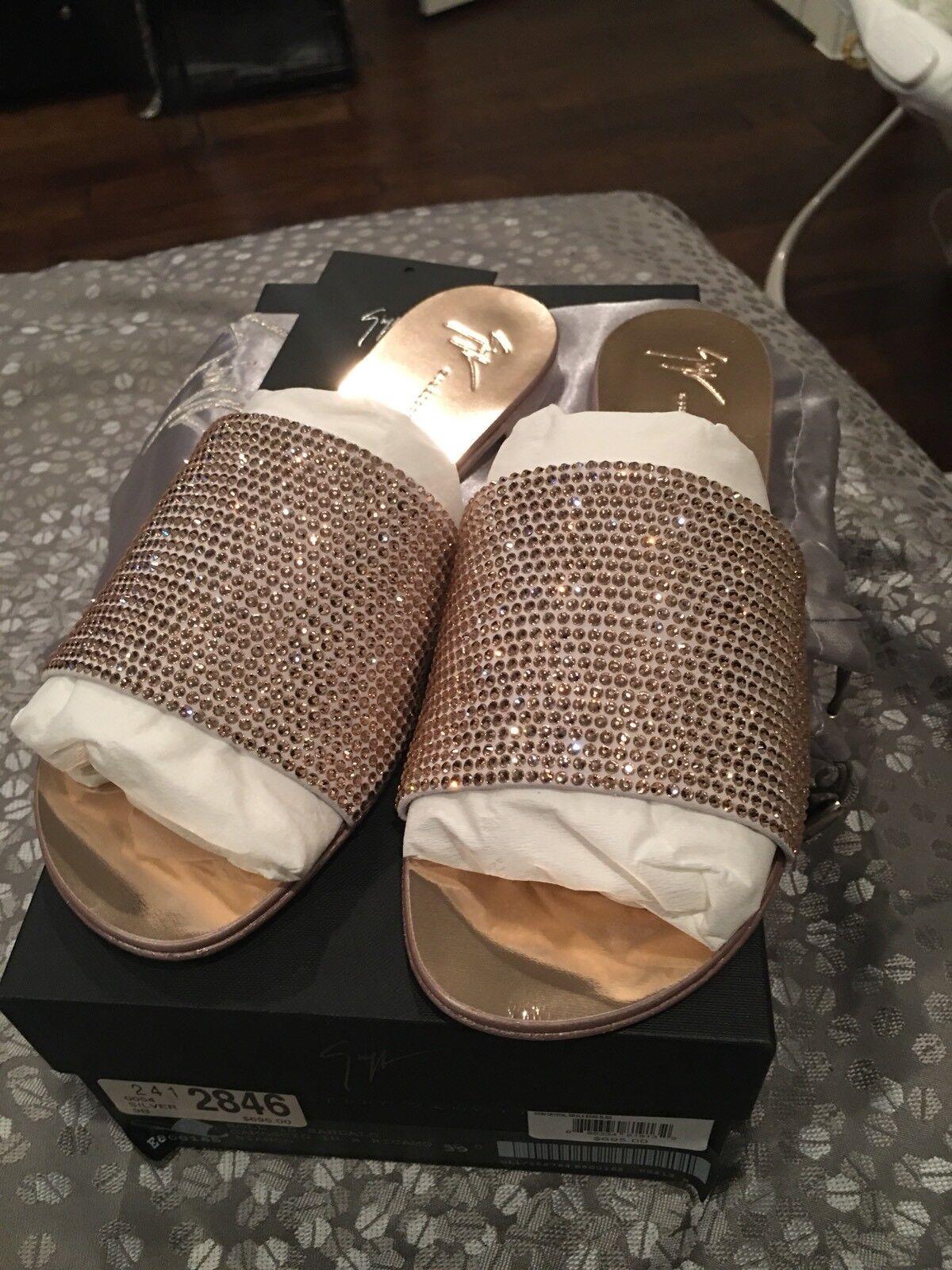 Giuseppe Zanotti Swarovski kristaller Sandals Adelia Storlek 39 USA 8.5 BNWT