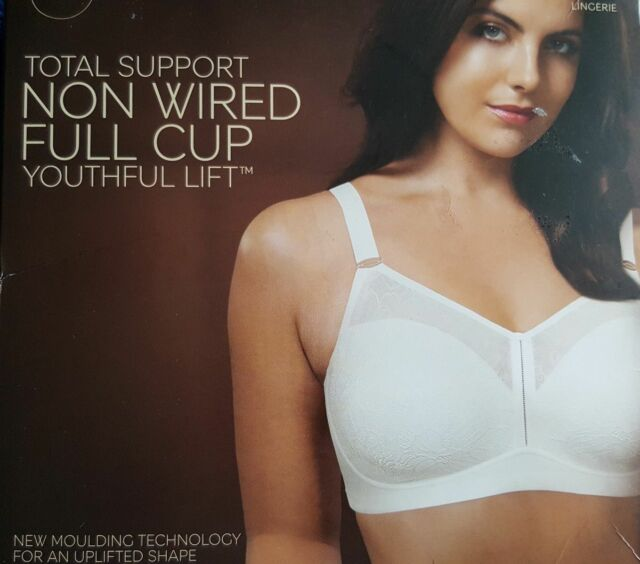 cd47b2931 White Total Support Non Wired Full Cup Bra Youthful Lift Marks and ...