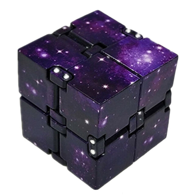 Fun Fidget 6 Sided Cube Adult Anxiety Stress Relief Cube Toys Xmas Gift Cubes GW