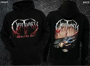 death metal band,T-shirt long sleeve-sizes:S to XXL OBITUARY-Slowly We Rot