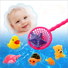 8PCS Lot Soft Rubber Float Sqeeze Sound Baby Wash Bath Play Animals Cute Toys