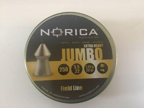 Norica Extra Jumbo Pellets .22//5.50 mm Qté 250 Free p/&p