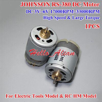 DC 3V-6V 30000RPM High Speed High Power JOHNSON RS-550 Motor Electric Tool DIY