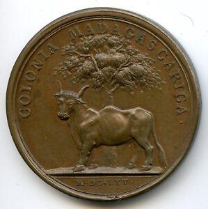 Louis-XIV-1643-1715-Medaille-par-Mauger-La-colonie-de-Madagascar-1665