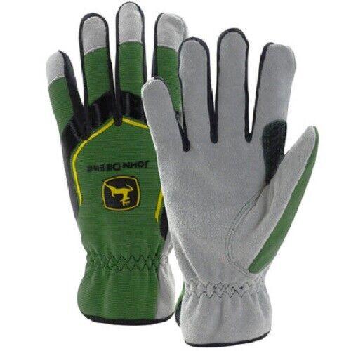 John Deere Cowhide Glove Spandex Back-Men-LP67362//61