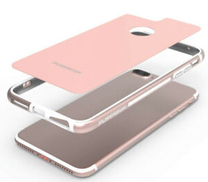 PureGear-Rose-Gold-GlassBak-360-Case-Aluminum-Bumper-for-iPhone-8-7-6-PLUS