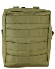 Tan Compatible MOLLE Large Zipped Army Utility Webbing Pouch RAF Security