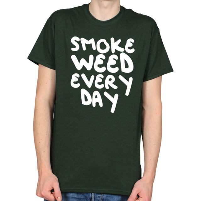 SMOKE WEED EVERY DAY 420 STONER POT DOPE DAB KUSH MARIJUANA MENS T-SHIRT TEE