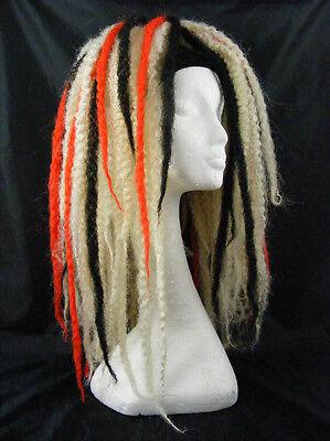 KRINKLEPUFFS BLONDE RED BLACK HAIR FALLS CYBERLOX DREADS CYBER GOTH