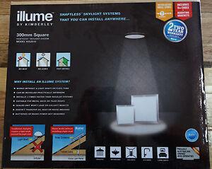 Illume 300mm Square Solar Powered Skylight Silver No Heat ...
