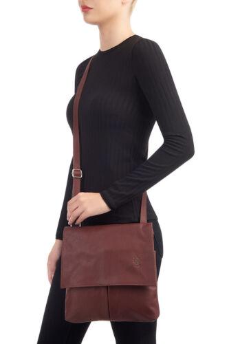 Italian 7426982976615 Verde Leather Pelle Bag Handbag oliva Vera Messenger Crossbody Womens 5ZqvAx17